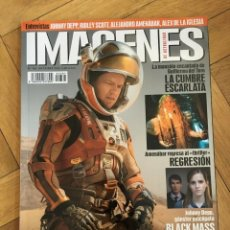 Cine: REVISTA CINE IMAGENES # 361 MARTE THE MARTIAN MATT DAMON BLACK MASS JOHNY DEPP. Lote 249483355