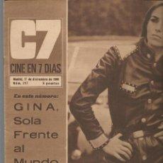 Cine: CINE EN 7 DIAS. Nº 297. JEANNE LARSEN / MIGUEL RIOS / ROCIO DURCAL / JHON LENNON /SUE LYON. 1966(*). Lote 249496470
