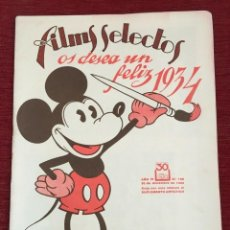 Cine: REVISTA FILM SELECTOS MICKEY MOUSE ON COVER 1933. Lote 251125315