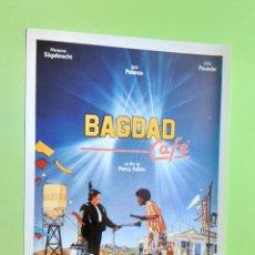 Cine: PROGRAMA DE MANO, BAGDAD CAFE, JACK PALANCE, IMPRESO EN LOS AÑOS 80. Lote 279411333