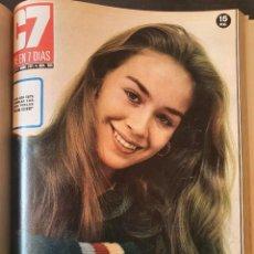 Cine: TOMO 20 REVISTAS CINE EN 7 DIAS - 1970-1971 - JULIO IGLESIAS, KARINA, MARIBEL MARTIN, MARISOL, .... Lote 252732125