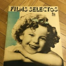 Cine: REVISTA FILMS SELECTOS SHIRLEY TEMPLE ON COVER 1935 MAE WEST JANE CONNELL. Lote 252770010