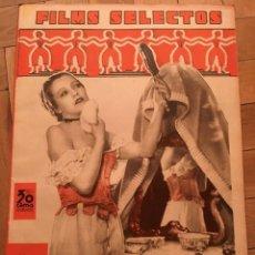 Cine: REVISTA FILM SELECTOS SHIRLEY TEMPLE 1935 KÄTHE VON NAGY MARION MARLIN ADRIENNE AMES. Lote 252773265