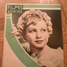 Cine: REVISTA FILM SELECTOS JUNE LANG JOAN CRAWFORD 1935 GERTRUDE MICHAEL MERLE OBERON. Lote 252773370