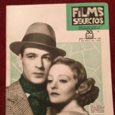 Cine: REVISTA FILM SELECTOS 1934 JOAN CRAWFORD GARY COOPER TALLULAH BANKHEAD HEATHER ANGEL. Lote 252776500