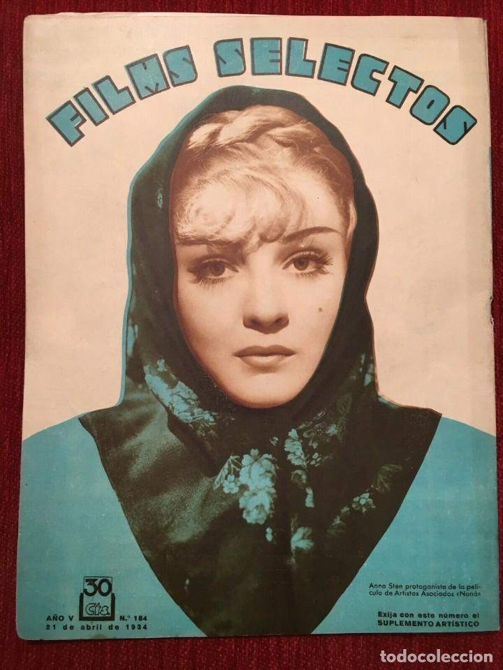 Cine: REVISTA FILM SELECTOS 1934 Shirley Temple Adrienne Ames Edmund Lowe Carmen Boni Anna Sten - Foto 4 - 252776670