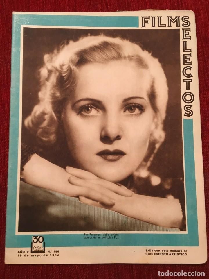 REVISTA FILM SELECTOS 1934 JOAN CRAWFORD PAT PATERSON GORDON WESTCOTT WANDA PERRY (Cine - Revistas - Films selectos)