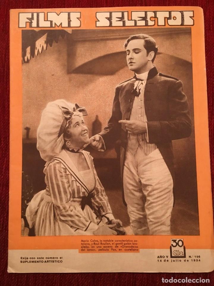 REVISTA FILM SELECTOS 1934 SHIRLEY TEMPLE DOROTHY DELL KÄTHE VON NAGY ERNESTINA ANDERSON (Cine - Revistas - Films selectos)