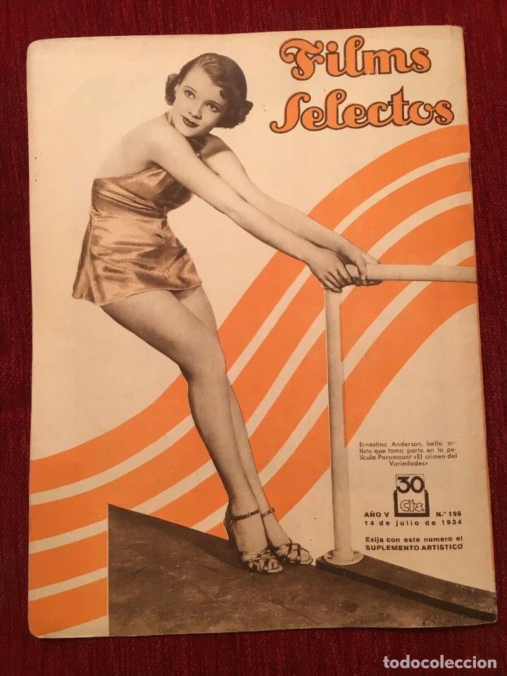 Cine: REVISTA FILM SELECTOS 1934 Shirley Temple Dorothy Dell Käthe von Nagy Ernestina Anderson - Foto 5 - 252777165