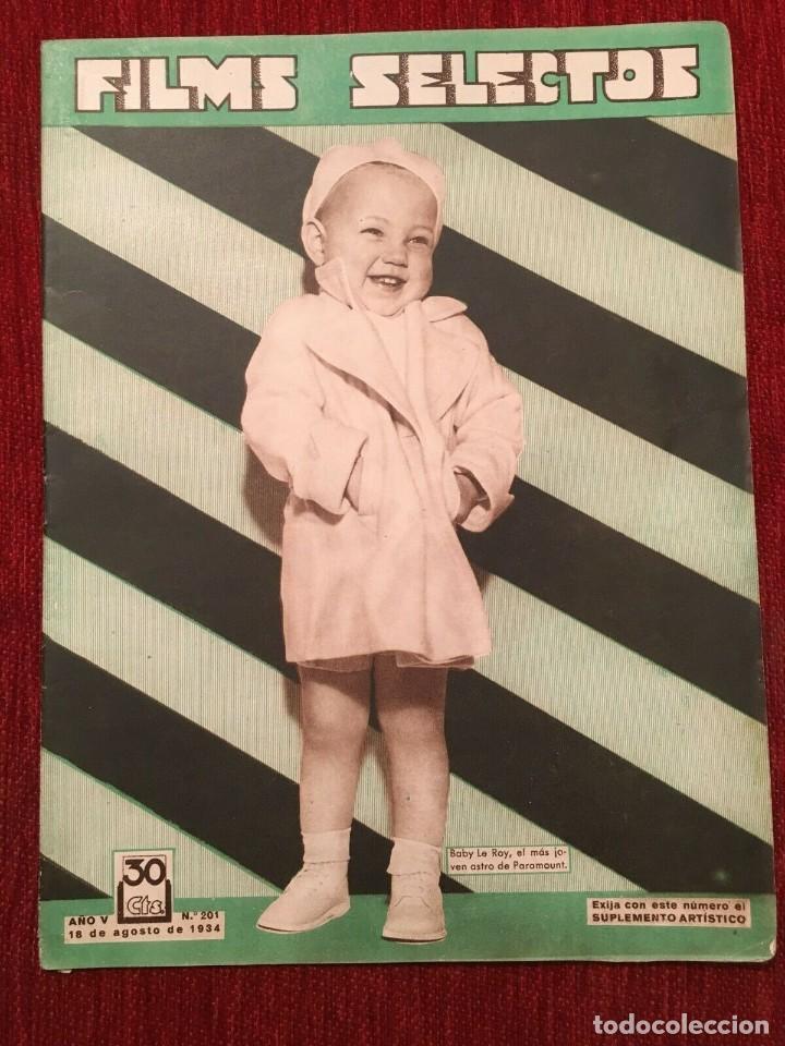 REVISTA FILM SELECTOS 1934 SHIRLEY TEMPLE BABY LE ROY CHARLES FARRELL MARTA EGGERTH (Cine - Revistas - Films selectos)