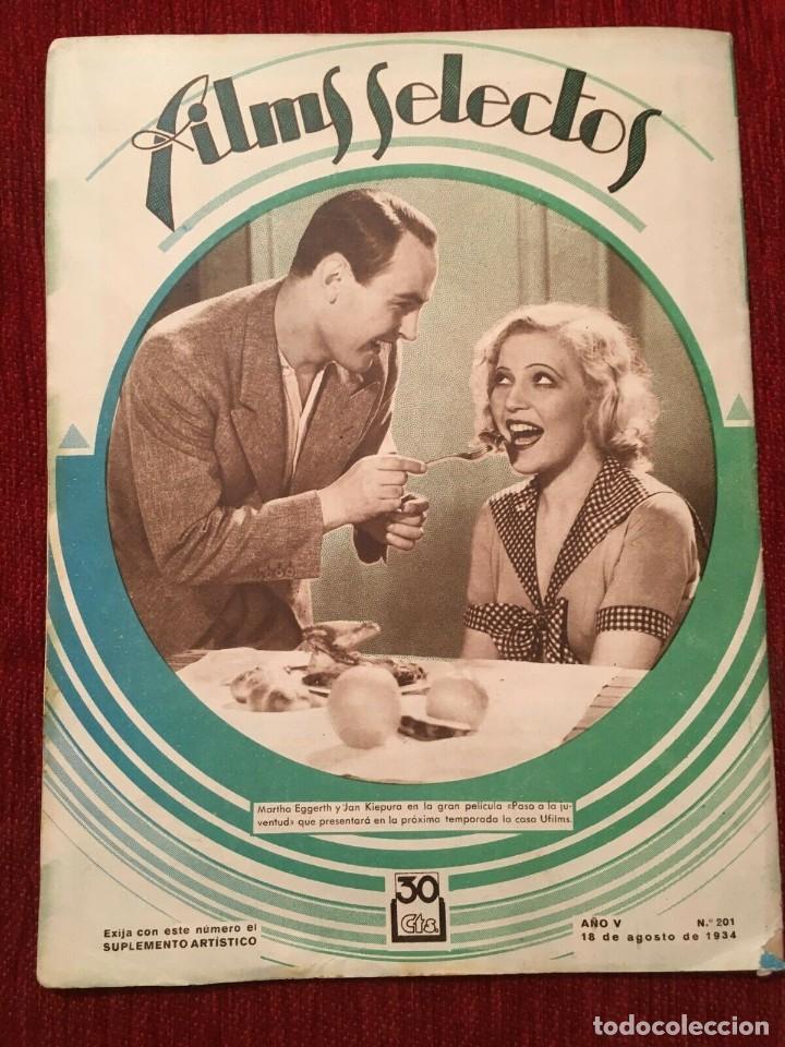 Cine: REVISTA FILM SELECTOS 1934 Shirley Temple Baby Le Roy Charles Farrell Marta Eggerth - Foto 5 - 252777340