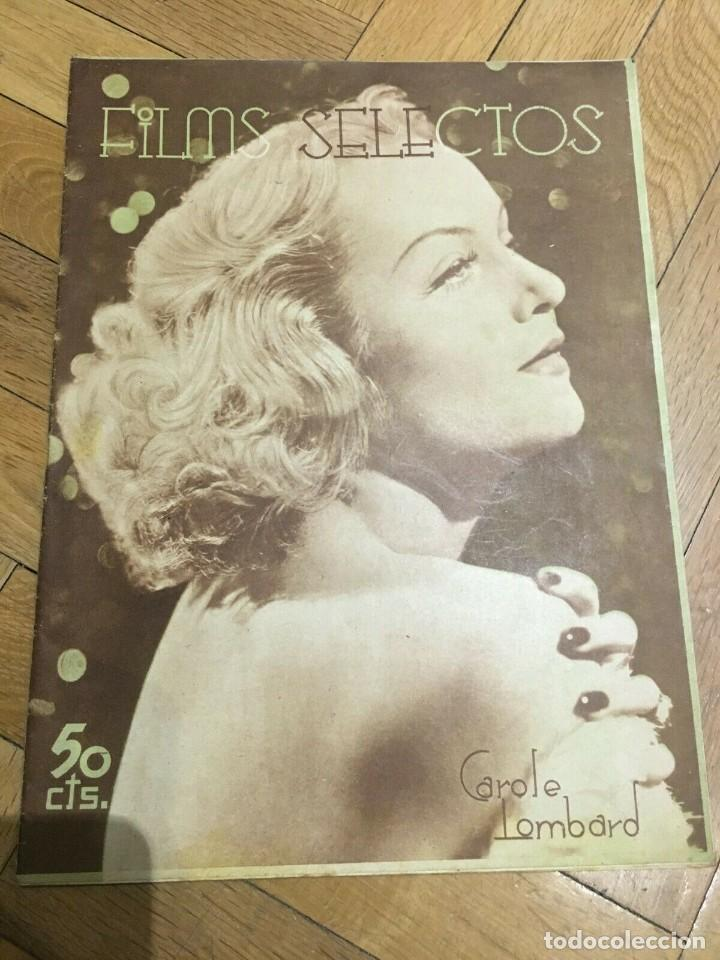 REVISTA FILM SELECTOS CAROLE LOMBARD ON COVER SHIRLEY TEMPLE WALT DISNEY MURIEL EVANS 1936 (Cine - Revistas - Films selectos)