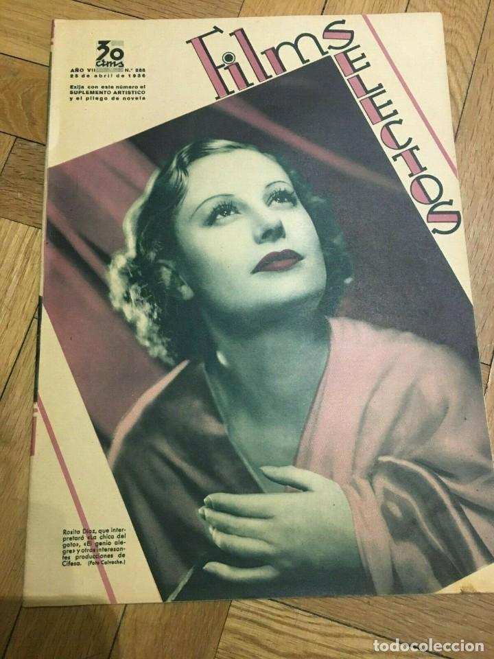REVISTA FILM SELECTOS SHIRLEY TEMPLE JOAN CRAWFORD ANN SOTHERN GRACE MOORE ROCHELLE HUDSON (Cine - Revistas - Films selectos)