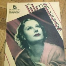 Cine: REVISTA FILM SELECTOS SHIRLEY TEMPLE JOAN CRAWFORD ANN SOTHERN GRACE MOORE ROCHELLE HUDSON. Lote 252780575