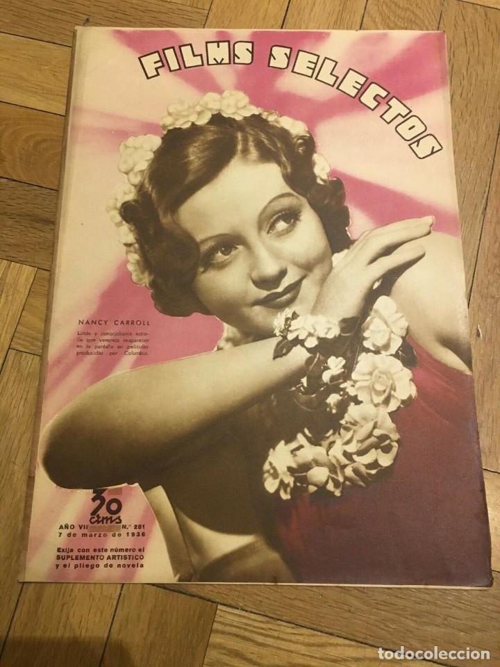 REVISTA FILM SELECTOS NANCY CARROLL COVER CHARLOT ELISSA LANDI GLORIA STUART SHIRLEY TEMPLE (Cine - Revistas - Films selectos)
