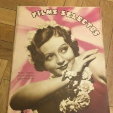 Cine: REVISTA FILM SELECTOS NANCY CARROLL COVER CHARLOT ELISSA LANDI GLORIA STUART SHIRLEY TEMPLE. Lote 252780660