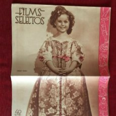 Cine: REVISTA FILM SELECTOS SHIRLEY TEMPLE ON COVER POPEYE BETTY BOOP. Lote 252780775