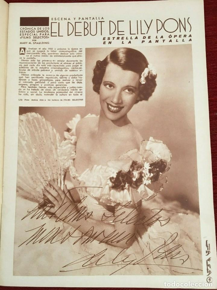 Cine: REVISTA FILM SELECTOS Kay Francis Shirley Temple Joan Crawford Lily Pons Rochelle Hudson - Foto 5 - 252780880