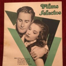 Cine: REVISTA FILM SELECTOS SHIRLEY TEMPLE ERROL FLYNN RENE CLAIRE ELEANOR POWELL GRACE BRADLEY. Lote 252781005