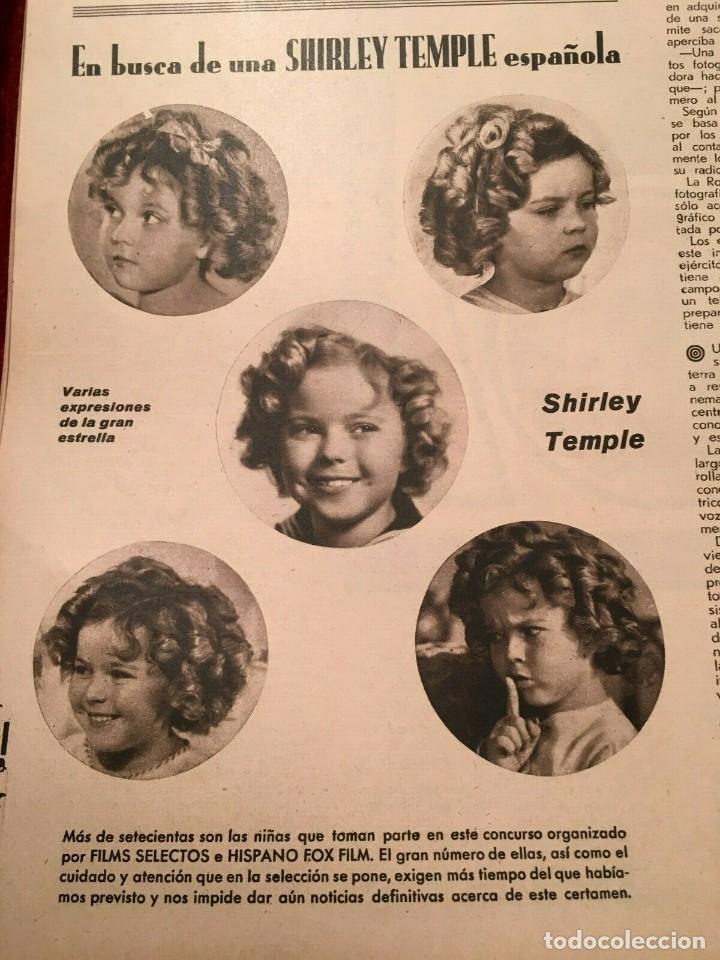 Cine: REVISTA FILM SELECTOS Shirley Temple Errol Flynn Rene Claire Eleanor Powell Grace Bradley - Foto 3 - 252781005