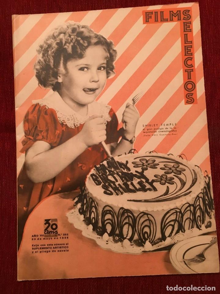 REVISTA FILM SELECTOS SHIRLEY TEMPLE ON COVER PAT O'BRIEN IRENE DUNNE ELIZABETH ALLAN (Cine - Revistas - Films selectos)