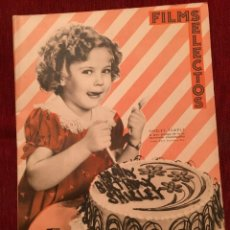 Cine: REVISTA FILM SELECTOS SHIRLEY TEMPLE ON COVER PAT O'BRIEN IRENE DUNNE ELIZABETH ALLAN. Lote 252781085