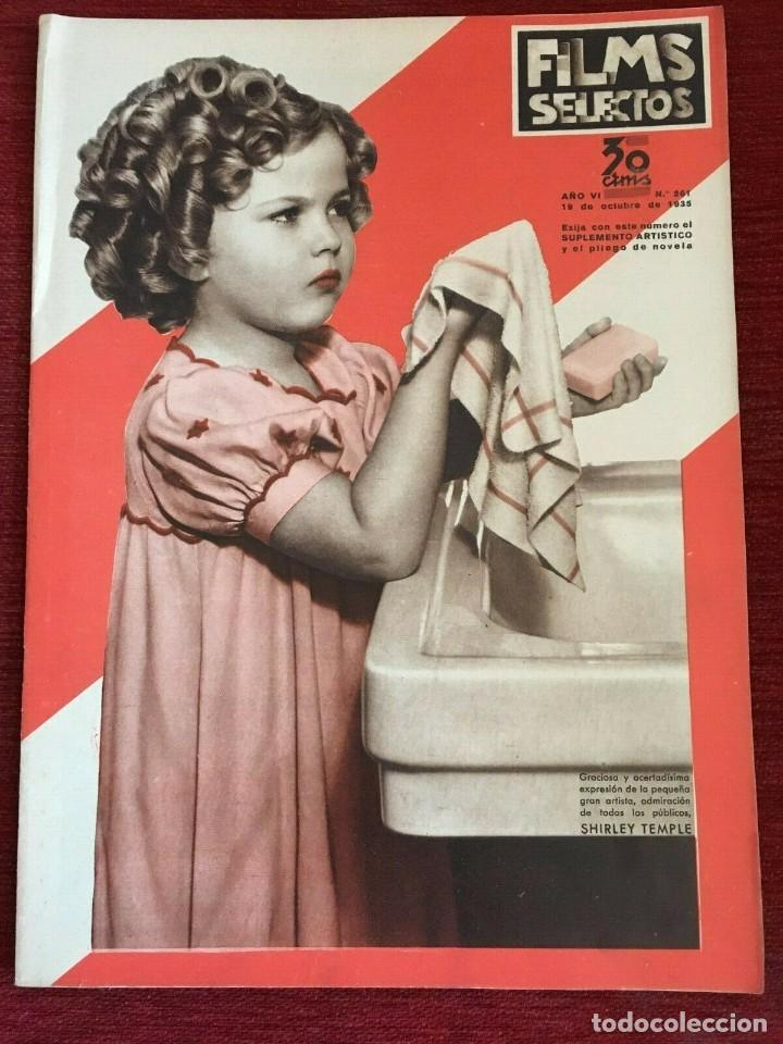 REVISTA FILM SELECTOS SHIRLEY TEMPLE ON COVER GAIL PATRICK MERLE OBERON HERBERT MARSHALL (Cine - Revistas - Films selectos)