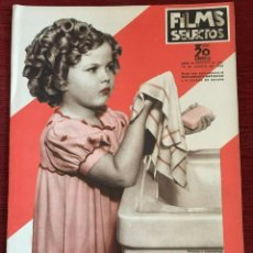 Cine: REVISTA FILM SELECTOS SHIRLEY TEMPLE ON COVER GAIL PATRICK MERLE OBERON HERBERT MARSHALL. Lote 252781170