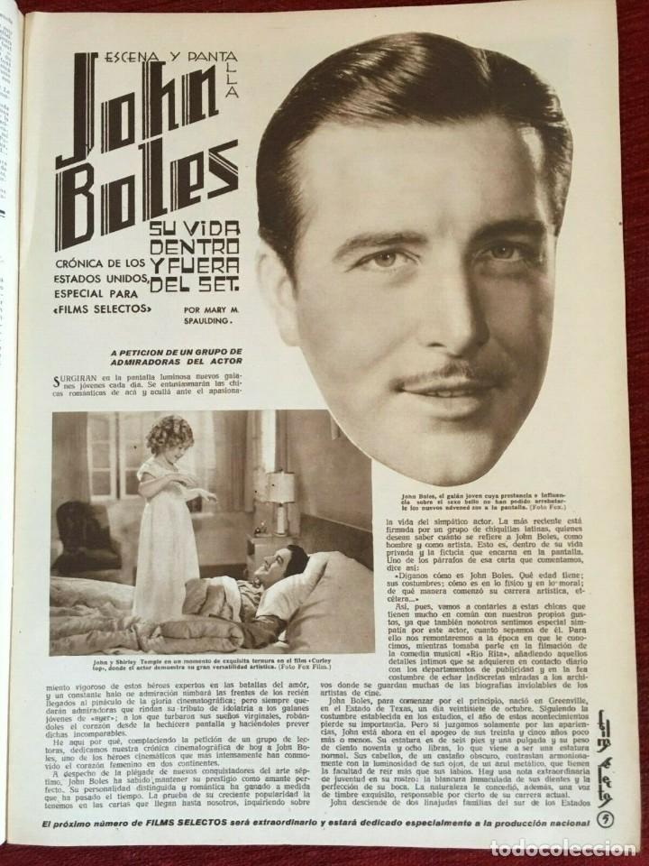 Cine: REVISTA FILM SELECTOS Shirley Temple on Cover Gail Patrick Merle Oberon Herbert Marshall - Foto 4 - 252781170