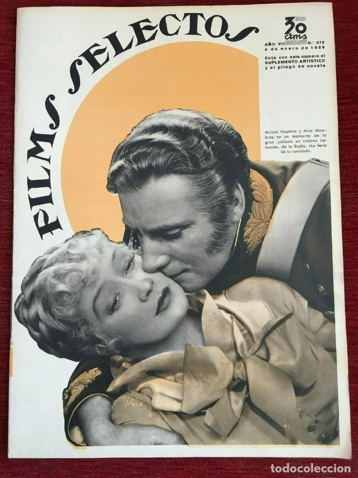 REVISTA FILM SELECTOS SHIRLEY TEMPLE MIRIAM HOPKINS JOSEPHINE HUTCHINSON ANN SOTHERN 1936 (Cine - Revistas - Films selectos)