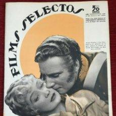 Cine: REVISTA FILM SELECTOS SHIRLEY TEMPLE MIRIAM HOPKINS JOSEPHINE HUTCHINSON ANN SOTHERN 1936. Lote 252781235