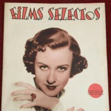 Cine: REVISTA FILM SELECTOS SHIRLEY TEMPLE JOAN CRAWFORD MARGARET LINDSAY SYBIL JASON JUNE LANG. Lote 252781310