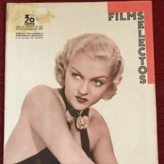 Cine: REVISTA FILM SELECTOS PATRICIA ELLIS SHIRLEY TEMPLE CHARLES LAUGHTON BECKY SHARP BETTE DAVIS. Lote 252782015