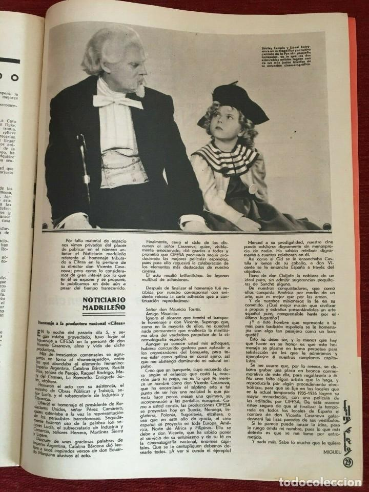Cine: REVISTA FILM SELECTOS Patricia Ellis Shirley Temple Charles Laughton Becky Sharp Bette Davis - Foto 2 - 252782015