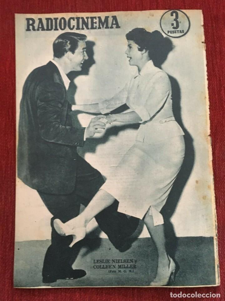 Cine: REVISTA RADIOCINEMA Gia Scala on Cover Shirley Temple Leslie Nielsen Colleen Miller 1956 - Foto 4 - 252782205