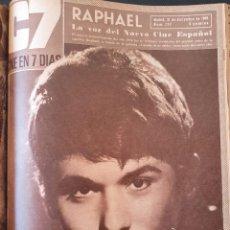 Cine: TOMO 26 REVISTAS CINE 7 DIAS-1966-67 (CARMEN SEVILLA,SOFIA LOREN,RAPHAEL, BEATLES,..). Lote 252922550