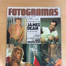 Cinema: REVISTA NUEVO FOTOGRAMAS Nº 1420 (2 ENERO 1976) - JAMES DEAN, FEDRA LORENTE, CRÍTICA TIBURÓN JAWS.... Lote 252989800