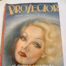Cine: PROYECTOR. REVISTA ESPAÑOLA DE CINE. MARLENE DIETRICH EN PORTADA. FEBRERO 1936. Lote 253299485