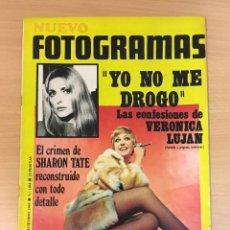 Cinema: REVISTA DE CINE NUEVO FOTOGRAMAS Nº 1104 (12 DICIEMBRE 1969) - SHARON TATE, VERÓNICA LUJÁN.... Lote 253360570