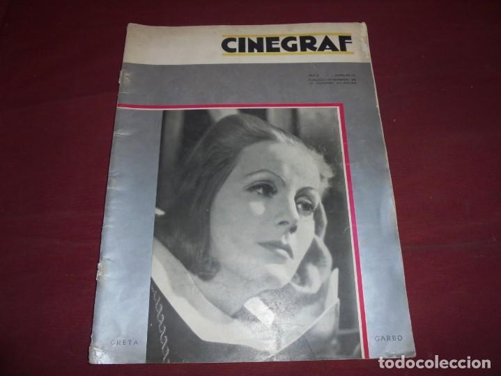 MAGNIFICA ANTIGUA REVISTA CINEGRAF 1934 NUMERO 25, GRETA GARBO (Cine - Revistas - Otros)