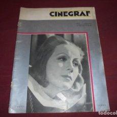Cine: MAGNIFICA ANTIGUA REVISTA CINEGRAF 1934 NUMERO 25, GRETA GARBO. Lote 253875150