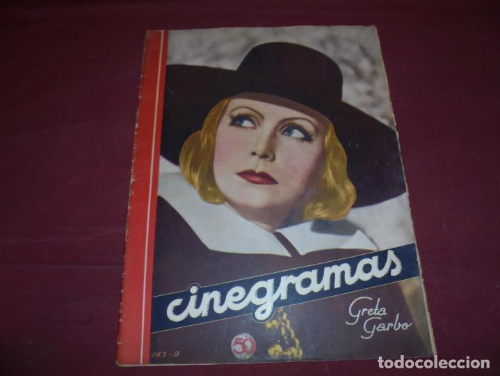 MAGNIFICAS 5 REVISTAS ANTIGUAS CINEGRAMAS (Cine - Revistas - Cinegramas)
