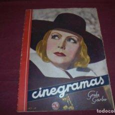 Cine: MAGNIFICAS 5 REVISTAS ANTIGUAS CINEGRAMAS. Lote 253882290