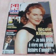 Cine: .CINE-REVUE-16 OCTUBRE 2003-Nº42(J.HALLYDAY,N.KIDMAN,D.RIVERS,D.O`CONNOR,W.MATHAU,RENO,ETC)VOIR PHOT. Lote 254595210