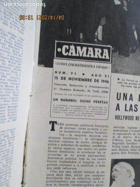 Cine: CAMARA REVISTA CINEMATOGRAFICA Nº 93 - 11-1946 - JUNE LOCKHART - FOTOS, DIBUJOS Y PROPAGANDAS - Foto 2 - 254630875