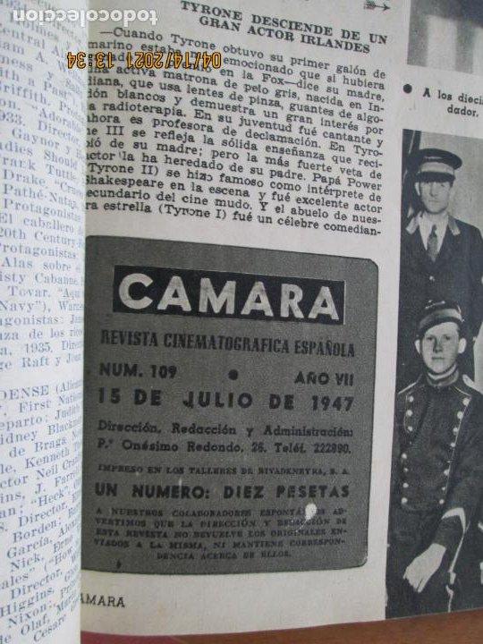 Cine: CAMARA REVISTA CINEMATOGRAFICA Nº 109- 07-1947- LILLI PALMER - FOTOS, DIBUJOS Y PROPAGANDAS - Foto 2 - 254631095