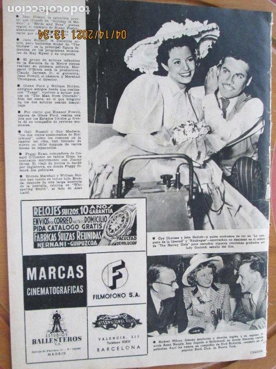 Cine: CAMARA REVISTA CINEMATOGRAFICA Nº 109- 07-1947- LILLI PALMER - FOTOS, DIBUJOS Y PROPAGANDAS - Foto 3 - 254631095