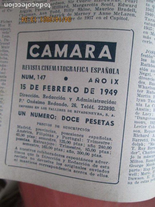Cine: CAMARA REVISTA CINEMATOGRAFICA Nº 147 -02-1949 -TAMARA LEES .- FOTOS, DIBUJOS Y PROPAGANDAS - Foto 2 - 254631345