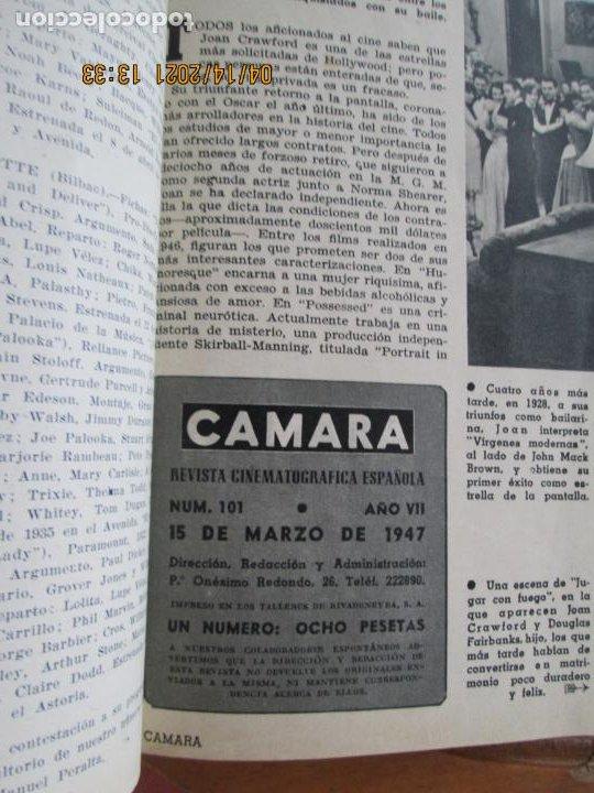 Cine: CAMARA REVISTA CINEMATOGRAFICA Nº 102- 04-1947- CONSTANCE MOORE - FOTOS, DIBUJOS Y PROPAGANDAS - Foto 2 - 254632190