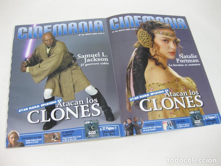 Cine: REVISTA CINEMANÍA Nº 80 DE EL ATAQUE DE LOS CLONES - STAR WARS - EPISODIO II - ATACAN LOS CLONES - Foto 2 - 254650985
